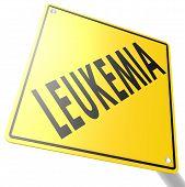 stock photo of leukemia  - Road sign with leukemia image with hi - JPG