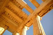 foto of parthenon  - The Parthenon on the large background of blue sky - JPG