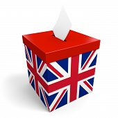 foto of jack-in-the-box  - A voter collection box for ballots - JPG