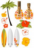 stock photo of tiki  - Hawaiian rest attributes - JPG