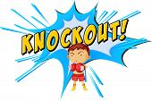 picture of knockout  - Knockout punch icon on white - JPG