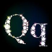 pic of glitter sparkle  - Diamond glittering letter  - JPG
