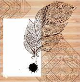 image of wood design  - Stylish presentation of business poster - JPG