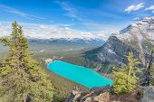 stock photo of hamlet  - Chateau Lake Louise view from Big Beehive - JPG
