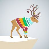 pic of caribou  - vector illustration - JPG