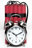 stock photo of time-bomb  - alarm clock and sticks of dynamite fashioned into a time bomb - JPG