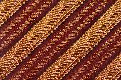 stock photo of batik  - Native Javanese Parang Batik Pattern fabric Scanned - JPG