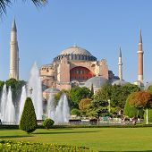 stock photo of eastern culture  - Hagia Sophia in Istanbul, Turkey. Hagia Sophia is the greatest monument of Byzantine Culture