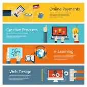 image of e-business  - Modern concepts collection in flat design with trendy colors for e - JPG
