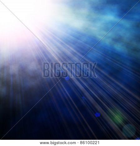 Illustration Of Blue Spotlight