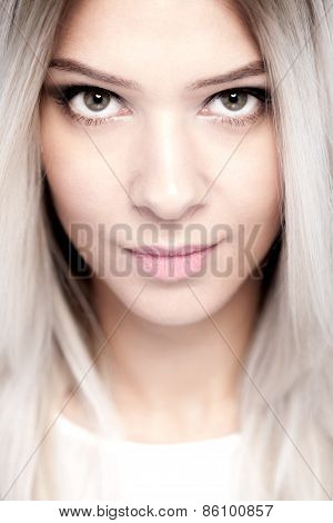 Beautiful Blond Girl Portrait