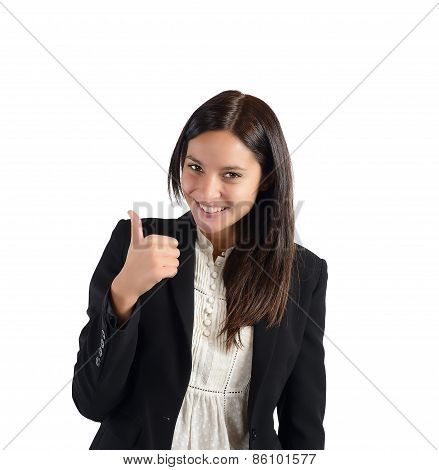 Positive and smiling businesswoman