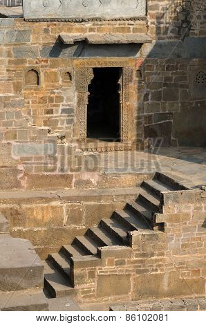 Jaipur, India - December 30, 2014: Chand Baori Stepwell In The Village Of Abhaneri