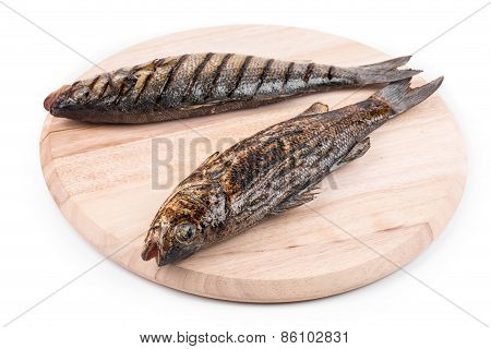 grilled fish on platter