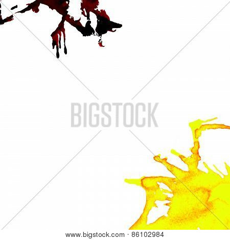 Abstract Ink Stains Vector