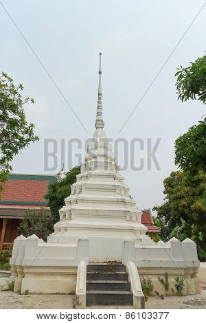 white stupa under the sun light