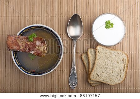 Vegetable Soup With Smoked Meat