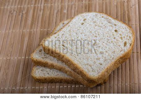 Slices White Bread