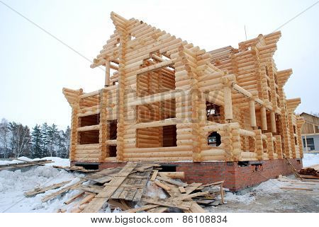 construction of houses from logs