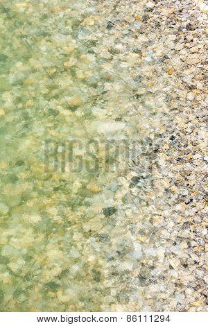 stones in Verdon river, Provence, France