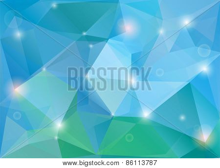 Abstract green-blue diamond shaped vector background