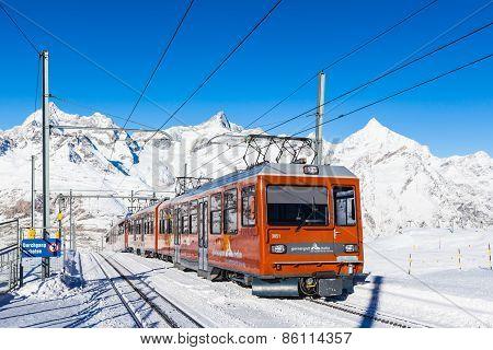 Train Of Matterhorn Gonergratbahn