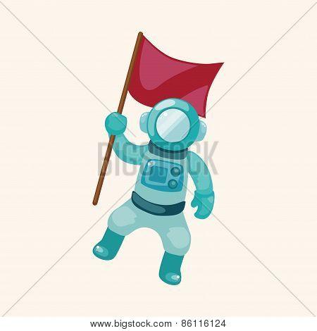 Spaceman Theme Elements Vector,eps