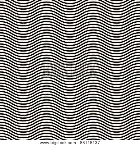 Vector Seamless Pattern. Modern Stylish Texture. Monochrome Linear Braids
