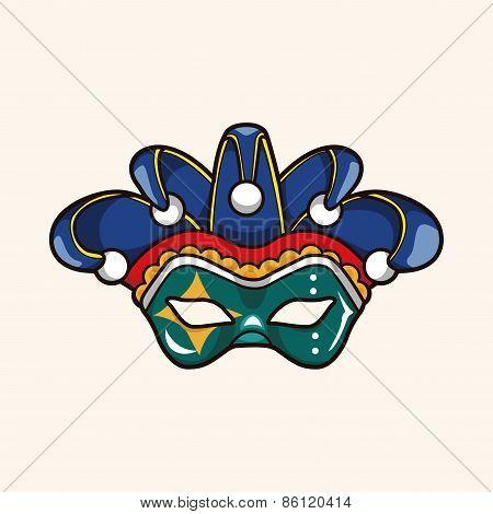 Party Mask Theme Elements