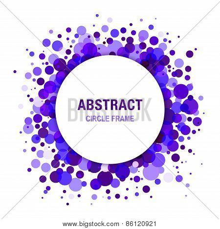 Violet Bright  Abstract Circle Frame Design Element