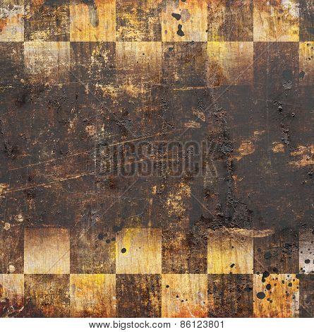 Grunge Chessboard Backgound