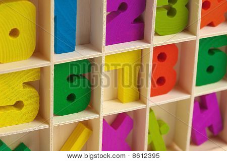 Color Wooden Toy Figures In Box