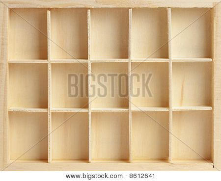 Wooden Box On Fifteen Cells