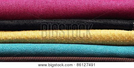Pieces Of Cloth Of Different Colors