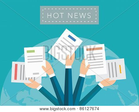 Hot news vector background