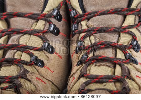 Hiking Boots In Close-up