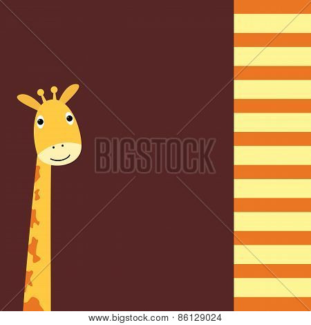 Cute Giraffe card