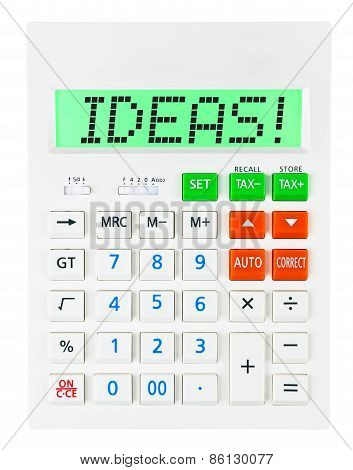 Calculator With Ideas