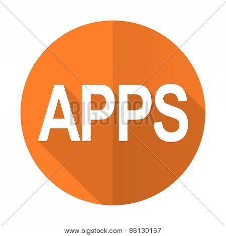apps orange flat icon