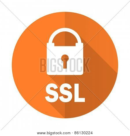 ssl orange flat icon