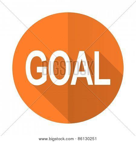 goal orange flat icon