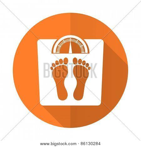 weight orange flat icon