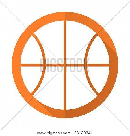 ball orange flat icon basketball sign