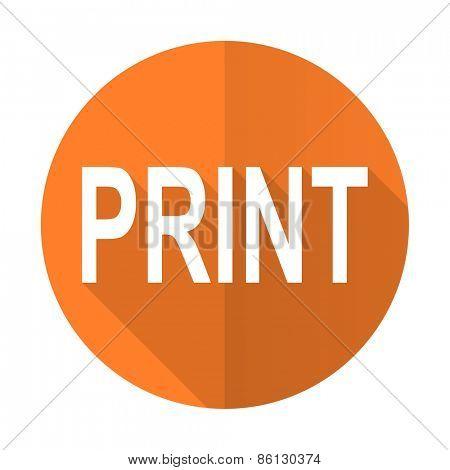 print orange flat icon