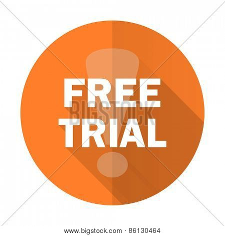 free trial orange flat icon