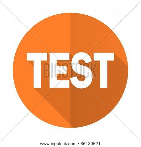 test orange flat icon