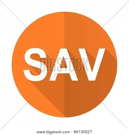 sav orange flat icon