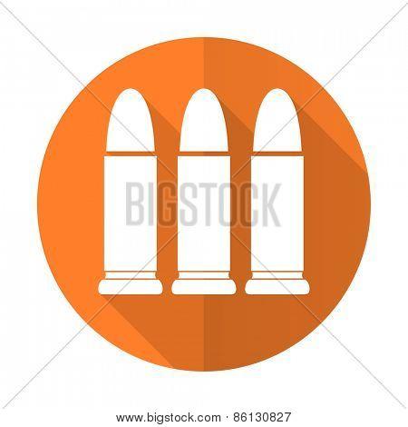 ammunition orange flat icon weapoon sign