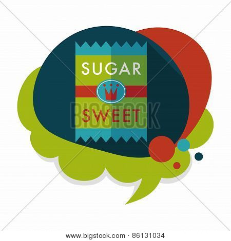 Sugar Packet Flat Icon With Long Shadow,eps10