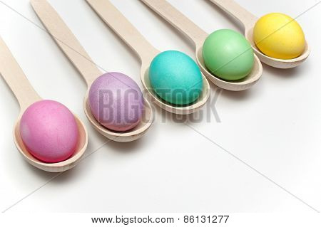 Pastel Easter Eggs Isolated On White